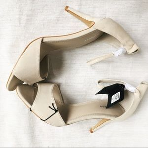 Express Runway Collection Suede Nude Stilettos 8.5
